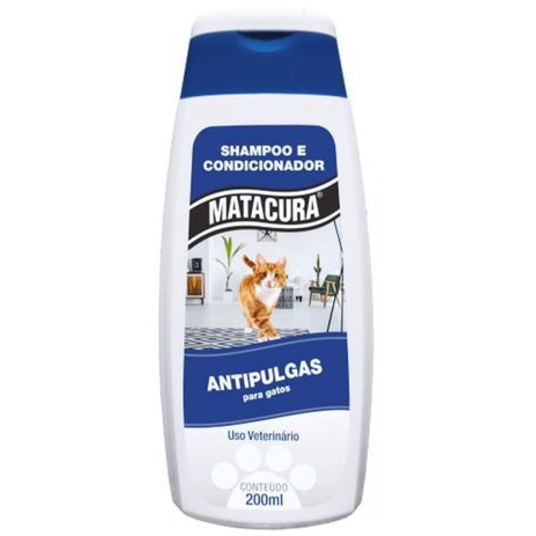 Shampoo Condicionador Antipulga Gatos Mtacura 200ml