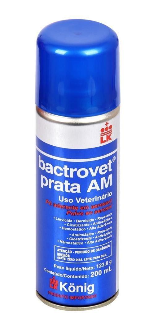 Spray Cicatrizante Bactrovet Prata 200ml Uso VeterinÁRio