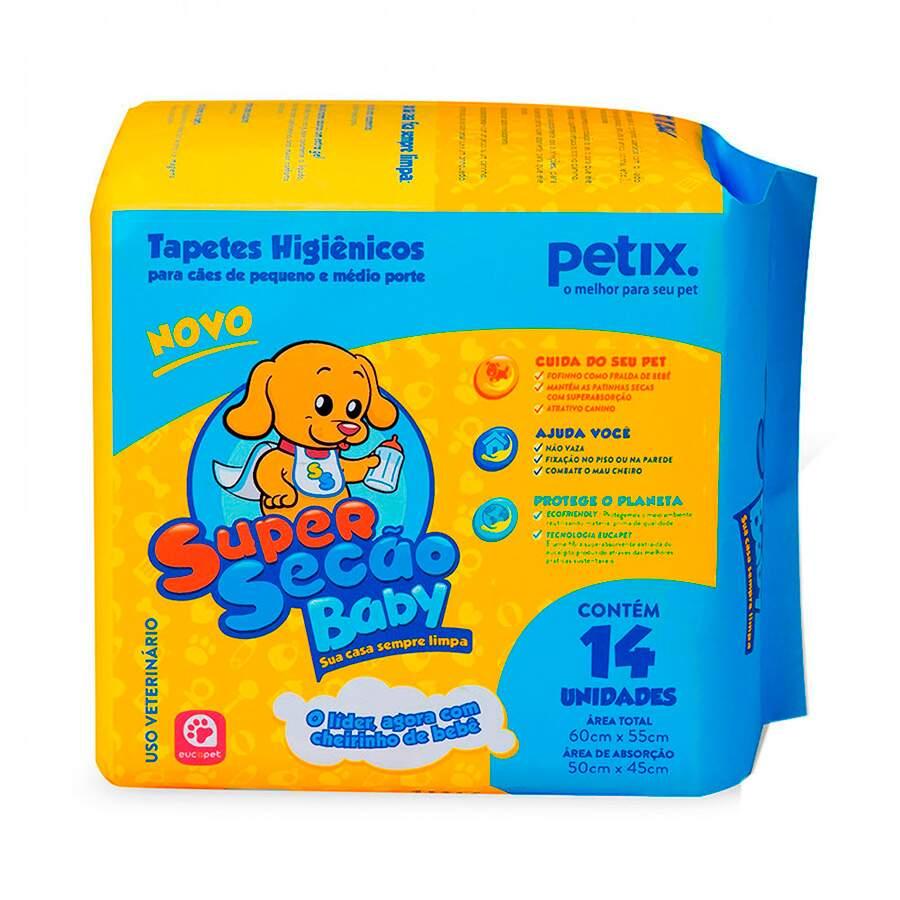 Super Secão Baby - Tapete Higiênico Para Cães Filhotes 60x55cm 14 Unidades