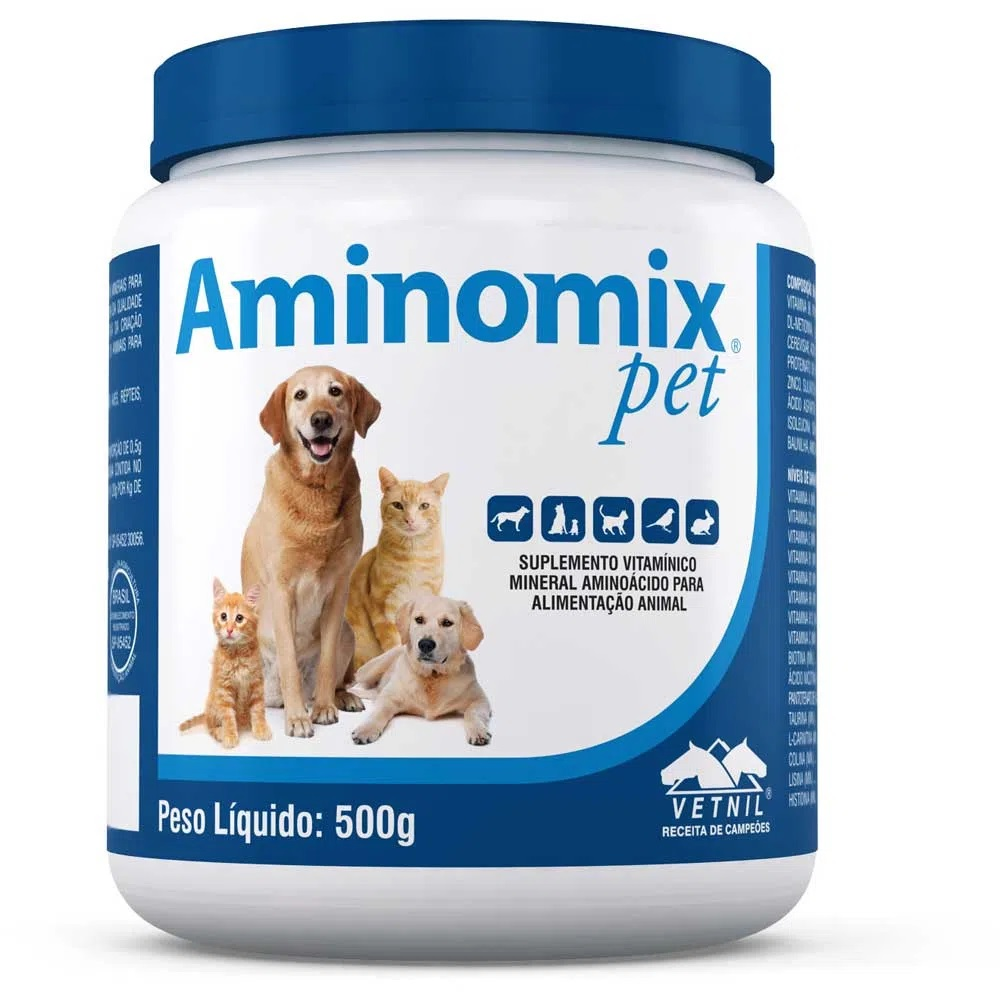 Suplemento Vitamínico Aminomix Pet 500g