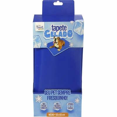Tapete Gelado Refresca Calor Pet Azul 50x65cm Tam. M
