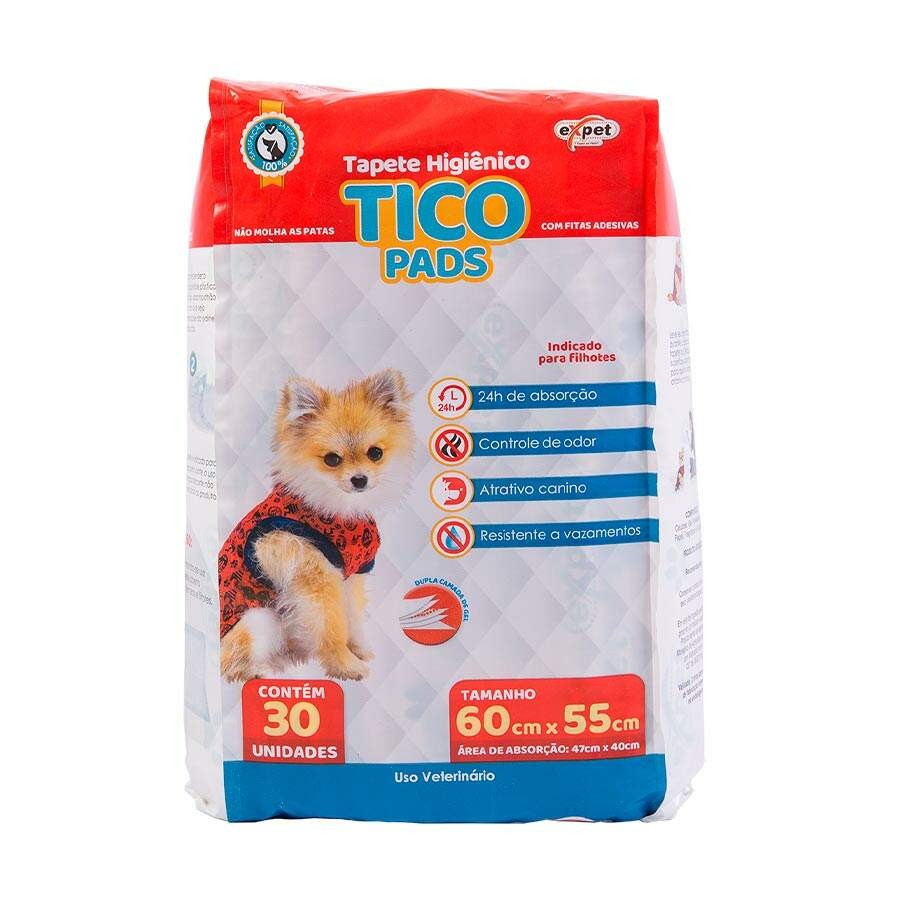 Tico Pads - Tapete Higiênico Para Cães 60x55cm 30 Unidades
