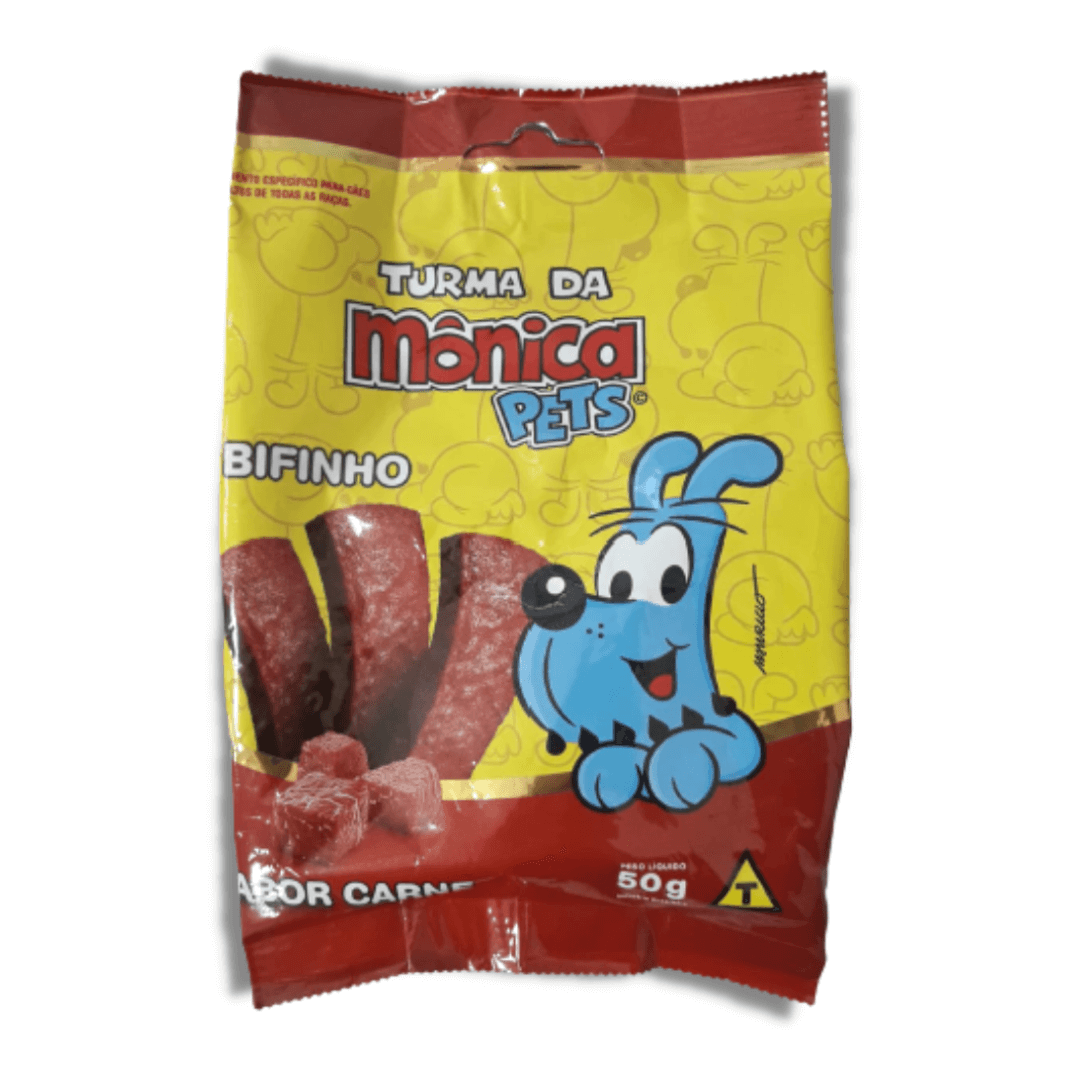 Turma da Mônica Pets - Petisco Bifinho Sabor Carne 50g