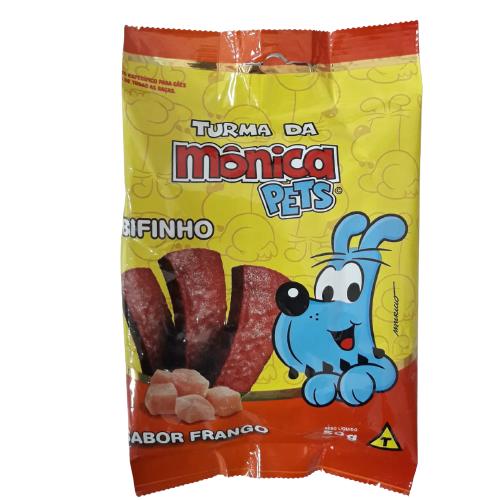 Turma da Mônica Pets - Petisco Bifinho Sabor Frango 50g