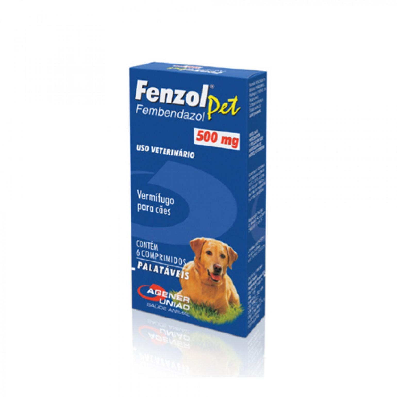 Vermífugo Fenzol Pet 500mg 6 Comprimidos