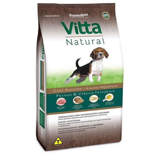 Vitta Natural - Ração Cães Adultos Raças Pequenas Frango Cereais 3 Kg