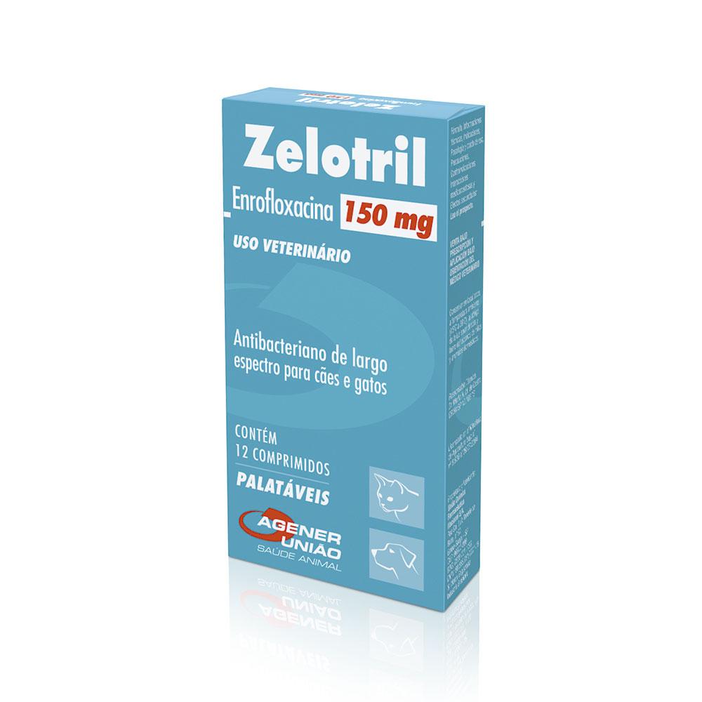 Zelotril - Antibiótico Cães e Gatos 150mg Agener União