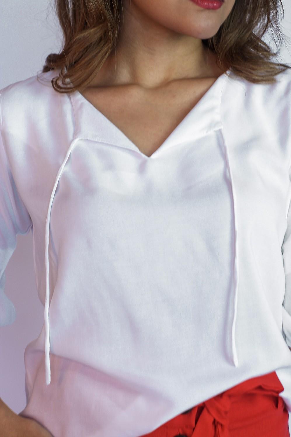 Blusa de manga 7/8 em viscose