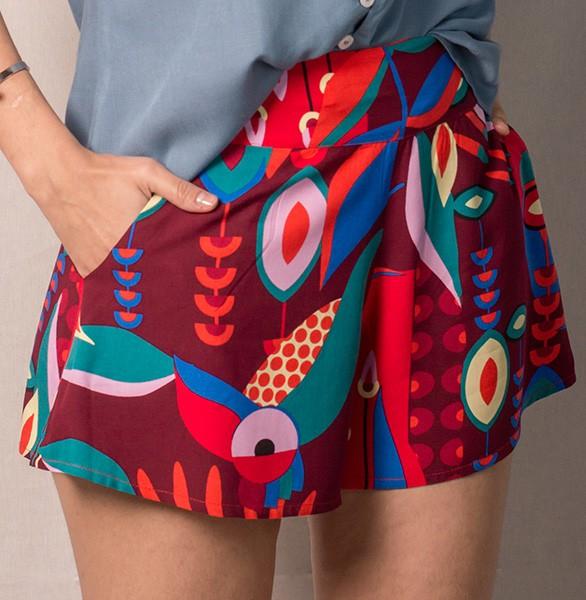 Shorts saia em viscose