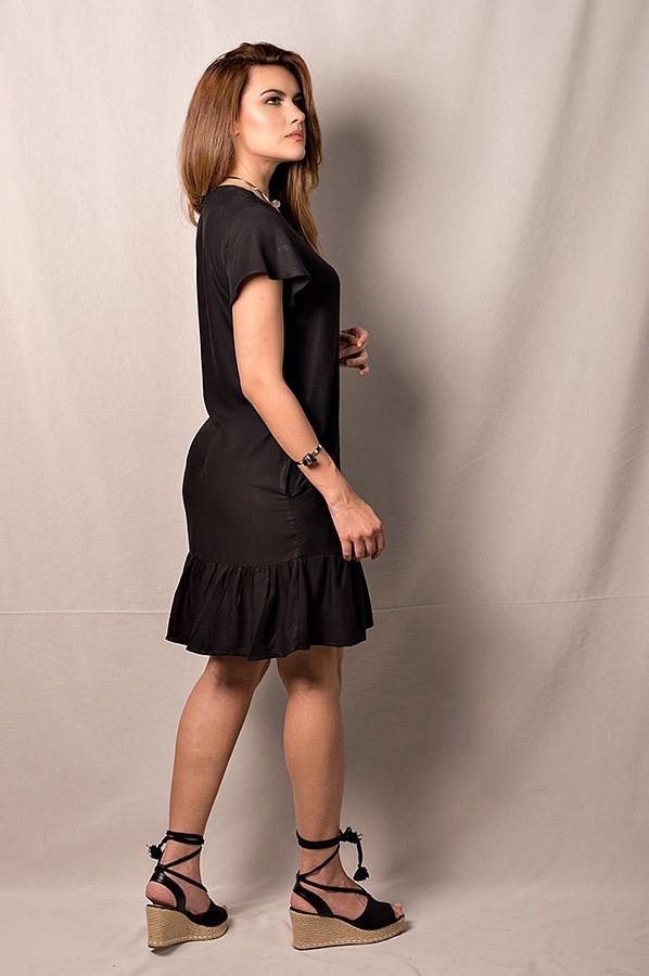 Vestido curto em viscose