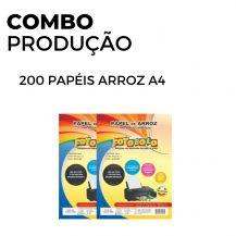 200 Papéis Arroz A4 TIPO A (2 pacotes com 100 unidades)