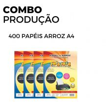 400 Papéis Arroz A4 TIPO A (4 pacotes com 100 und.)