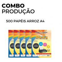 500 Papéis Arroz  A4 TIPO A (5 pacotes com 100 unidades)