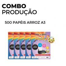500 Papéis Arroz  A3 TIPO A (5 pacotes com 100 unidades)