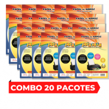 Combo 20 pacotes de Papel Arroz A4 Tipo A