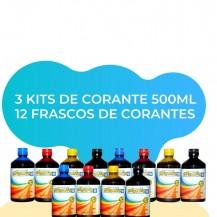 Combo 3 Kits de Corante 500ml