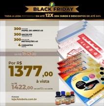 COMBO BLACK FRIDAY - 300 Papéis Arroz A3 + 300 Sacos PP A3 + 300 Folhas de instrução A3 + 1 Kit de Corantes 100ml (4 fra