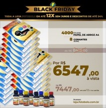 COMBO BLACK FRIDAY - 4000 Papéis Arroz + 2 Kits corantes de 100ml ( 8 frascos + 8 bicos)