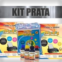 KIT PRATA - 2 Pacotes A4 + 1 Kit Corante 100ml + 1 Pacote para tortas e bolos