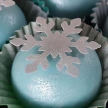 Papel Arroz Recortado - Floco de neve - Pacote c/ 60 und