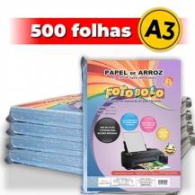 kit 5 pct Papel Arroz A3 -Tipo A -Fotobolo -a vácuo -100 fls