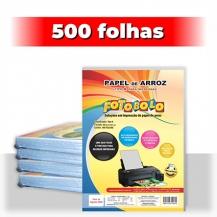 kit 5 pct Papel Arroz A4 -Tipo A -Fotobolo -a vácuo -100 fls