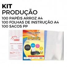 Kit Produção Papel Arroz Fotobolo A4 - Pct C/100 Folhas Cada
