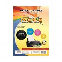 Papel Arroz Fotobolo A4 - Pct C/ 100 Folhas-embalado À Vácuo