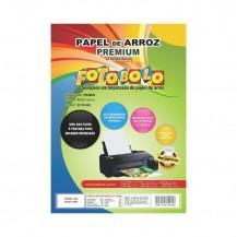 Papel Arroz A4 - Tipo Premium Fotobolo - Embalado a Vácuo - 50 folhas