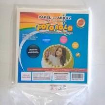 Papel Arroz Quadrado para Tortas Redondas (21x22cm) - Embalado à vácuo - pacote com 50 folhas