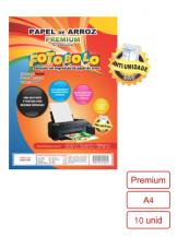 Papel Arroz Tipo Premium Embalado a Vácuo- Tamanho A4 - 10 folhas