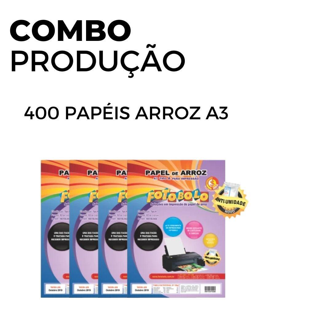 400 Papéis Arroz A3 TIPO A (4 pacotes com 100 und.)