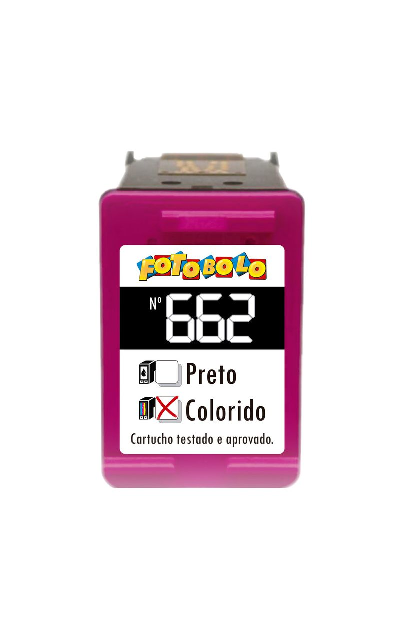 Cartucho Colorido 662- Com Tinta Comestível