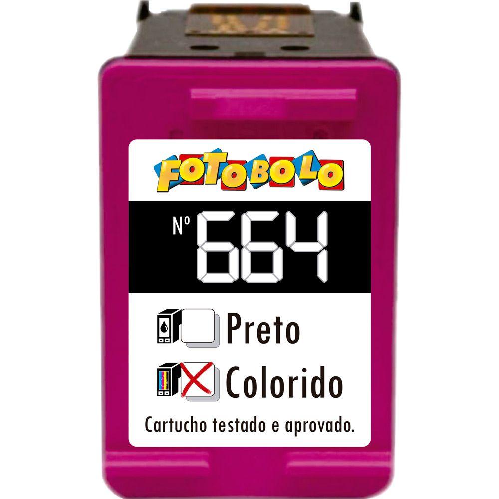 Cartucho Colorido 664 - Com Tinta Comestível