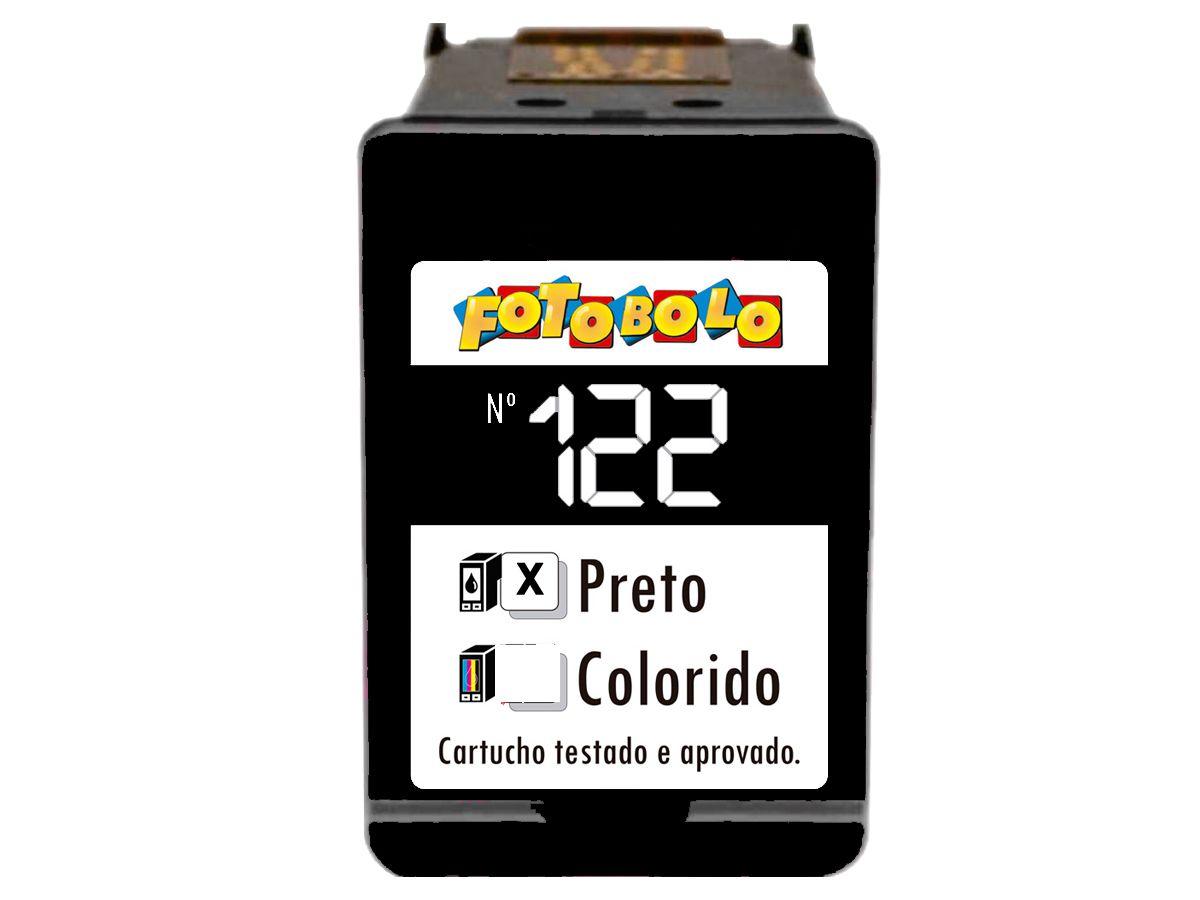 Cartucho Preto 122 - Com Tinta Comestível