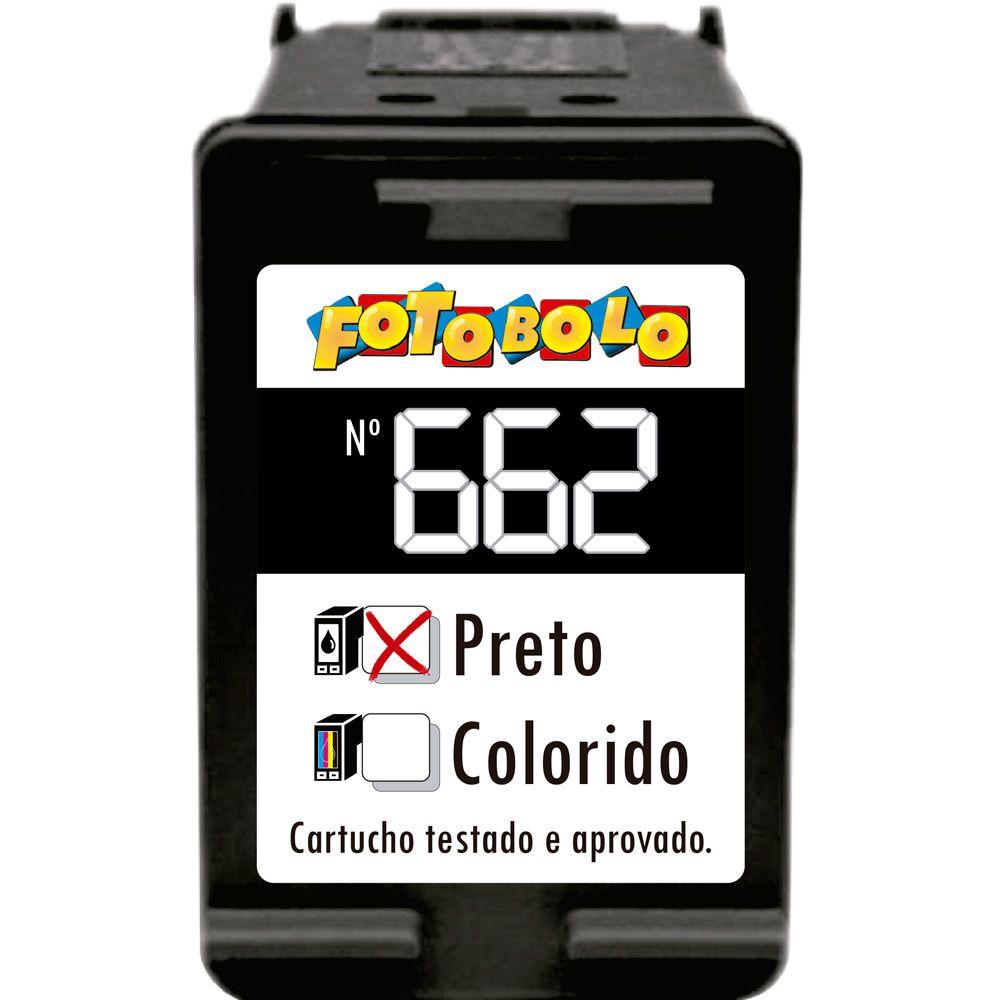 Cartucho Preto 662 - Com Tinta Comestível