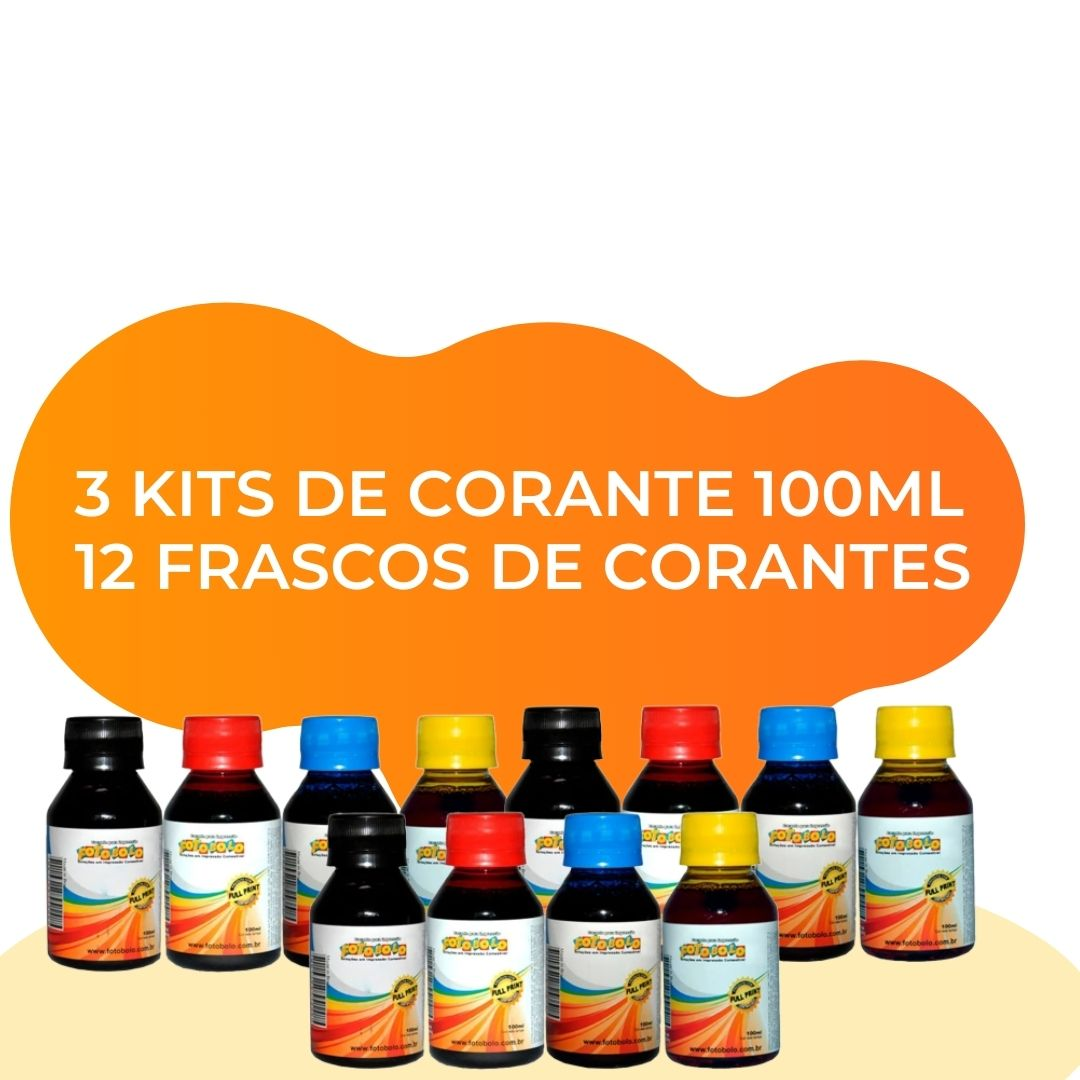 Combo 3 Kits de Corante 100ml