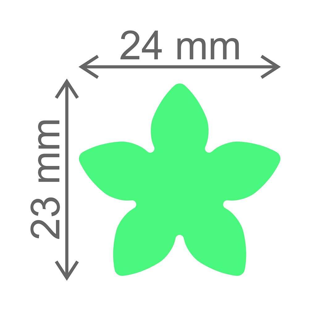 Cortador de Papel Arroz - Formato Flor 5 Pontas