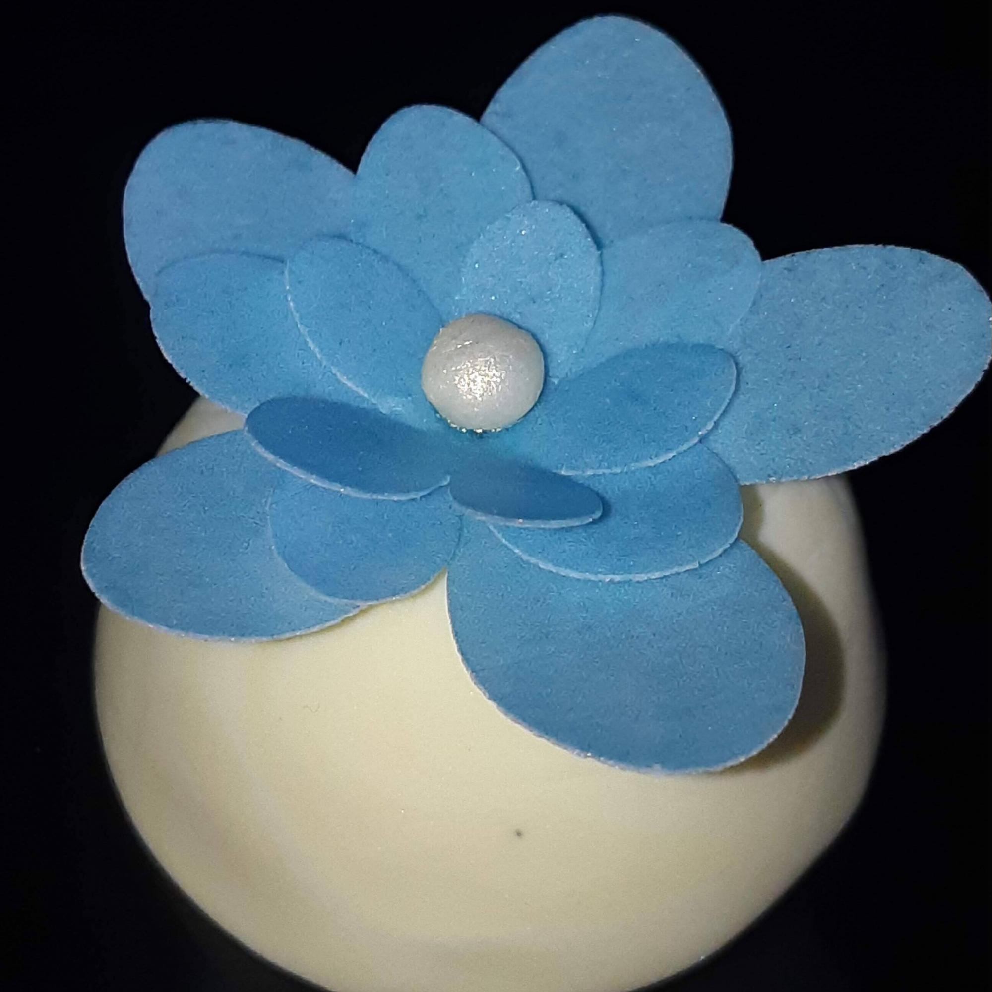 Papel Arroz Recortado - Flor de 3 camadas - Pacote c/ 60 und