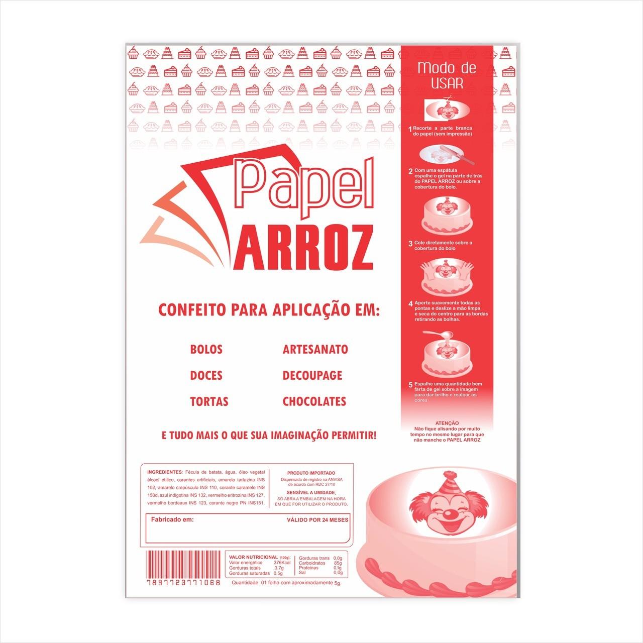 Folha de Instrução p/ embalar papel arroz - A3 - 50 Folhas