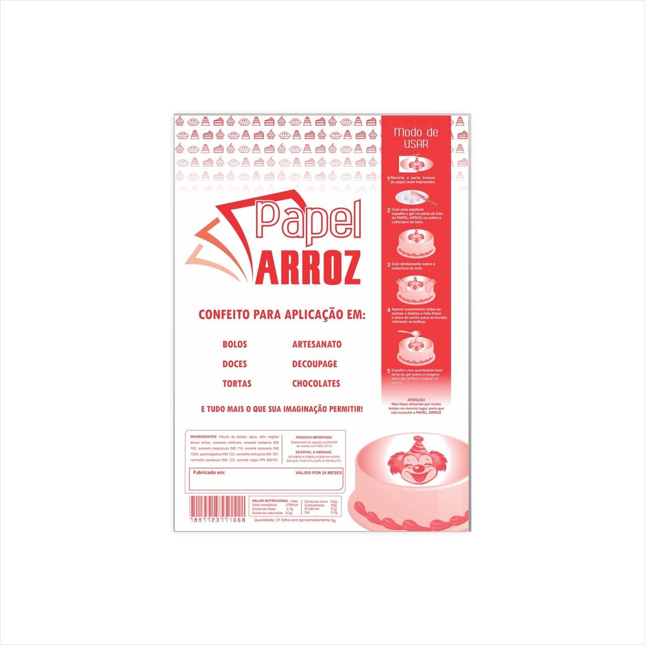 Folha de Instrução p/ embalar papel arroz - A4 - 50 Folhas