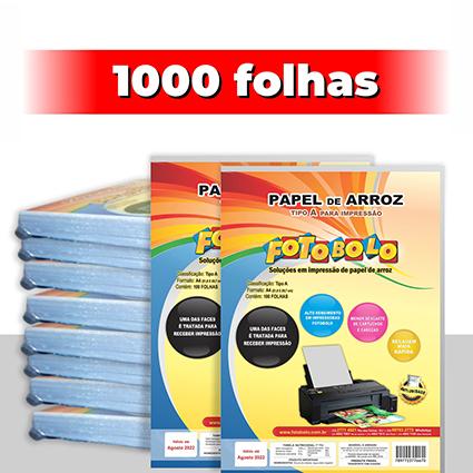 kit 10 pct Papel Arroz A4 -Tipo A -Fotobolo -a vácuo 100 fls