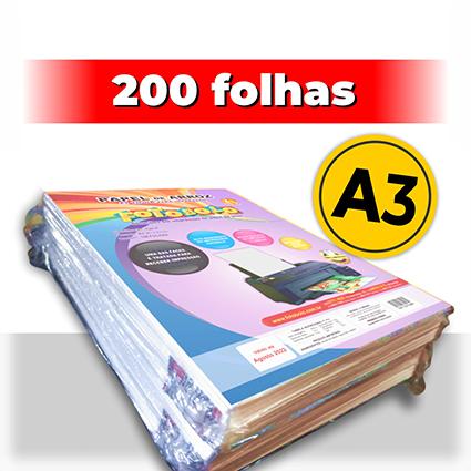 kit 2 pct Papel Arroz A3 -Tipo A -Fotobolo -a vácuo -100 fls