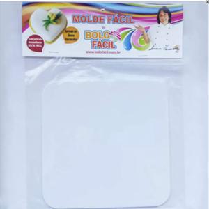 Molde Fácil - Bandeja Mini-Bolo Quadrado - Pacote com 12 unidades