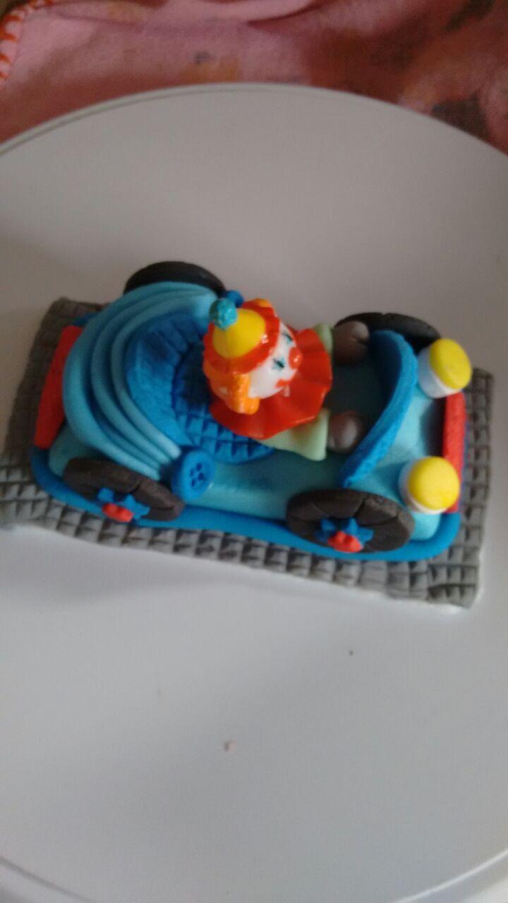 Molde Fácil - Carrinho para Mini Bolo Artístico