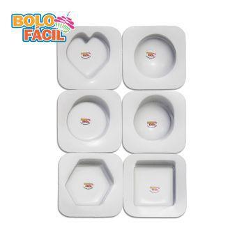 Molde Fácil - Kit Para Mini Bolo Artístico Com 6 Unidades