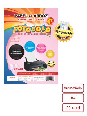 Papel Arroz Aromatizado Embalado a Vácuo- Tamanho A4 - 20 folhas