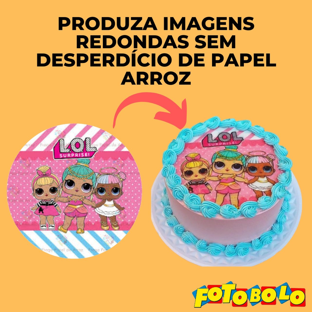 Papel Arroz para Tortas e Bolos Redondos (21X22CM) - Embalado a vácuo - 4 Pacotes com 50 Folhas
