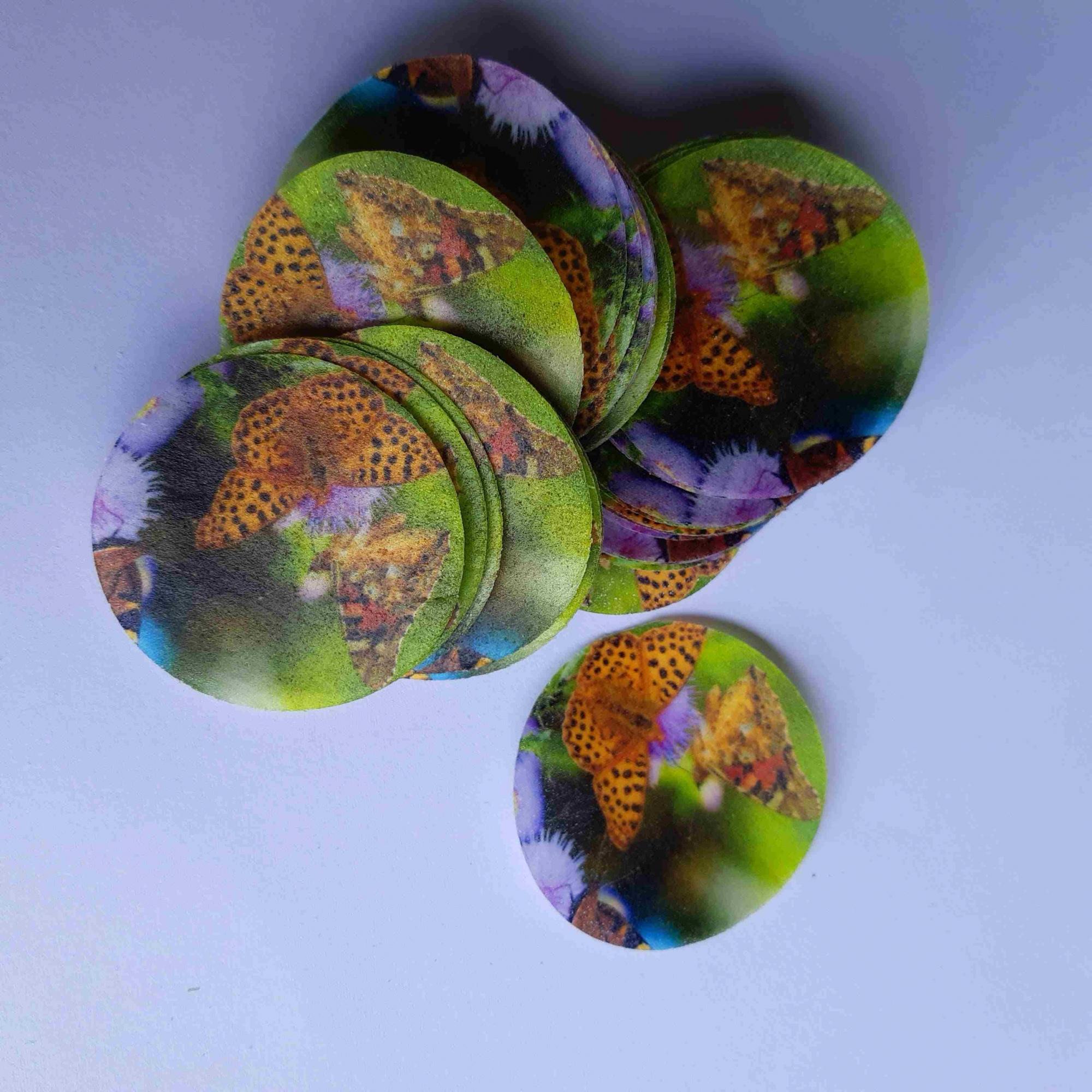 Papel Arroz Personalizado Recortado 2,5cm - Pacote c/ 100 Und