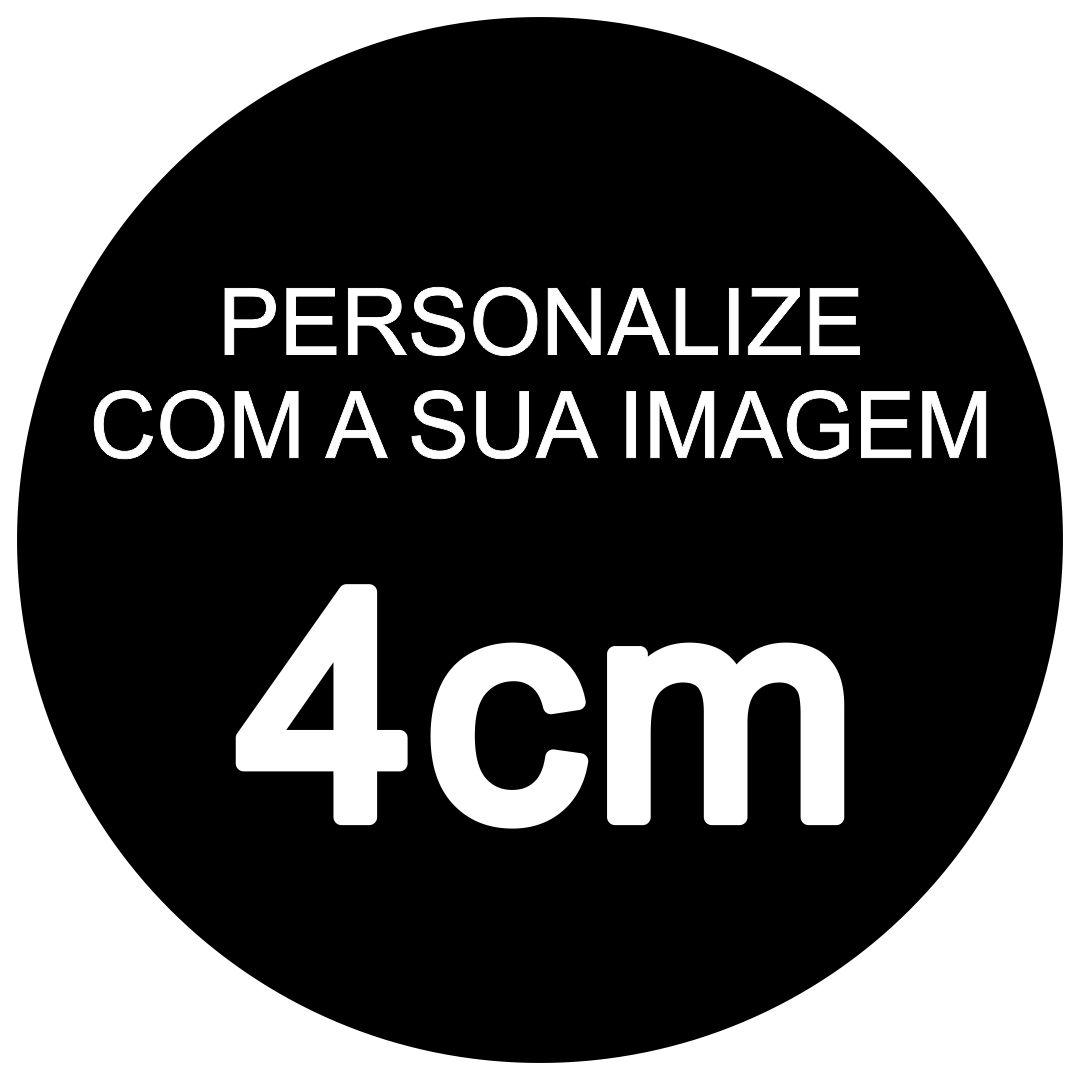 Papel Arroz Personalizado Recortado 4cm - Pacote c/ 100 Und